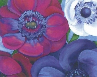 Anemonies Notecard Set
