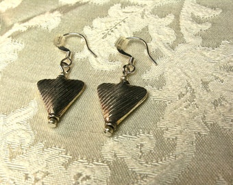 Triangle Thai Hill Tribe Silver Earrings Earth Focus