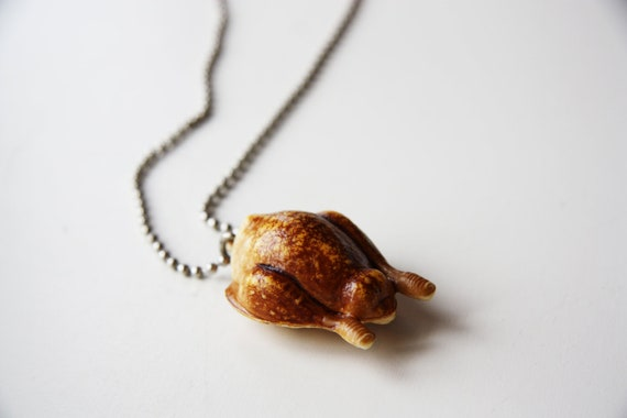 The Roasted Chicken - Funky Shrunky Necklace