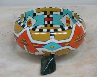 Navajo Bangle Bracelet Hand Painted Wearable Art Jewelry Southwest MicheleACaron