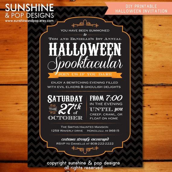 Halloween adult invitation ideas