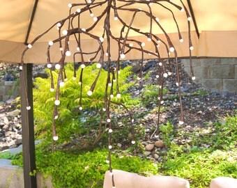 Lit branch chandelier
