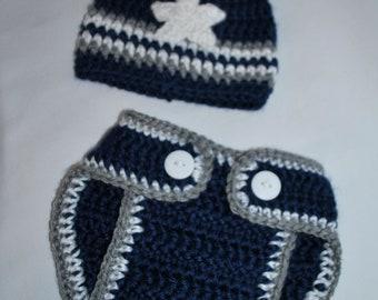 Newborn Beanie and Diaper Cover Set