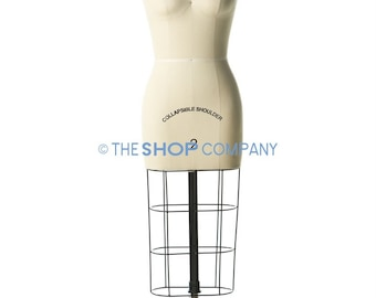 New Female Professional Dressmaker Mannequin Dress Form with Collapsible Shoulders Size 8