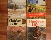 Vintage Outdoor Life Lot of 4 Magazine Hunting Fishing Christmas