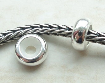Sterling Silver Round Stopper for Small European Style bracelets.