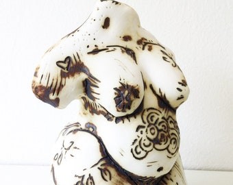 Venus- 16cm high, made out of porcelain and copper oxide