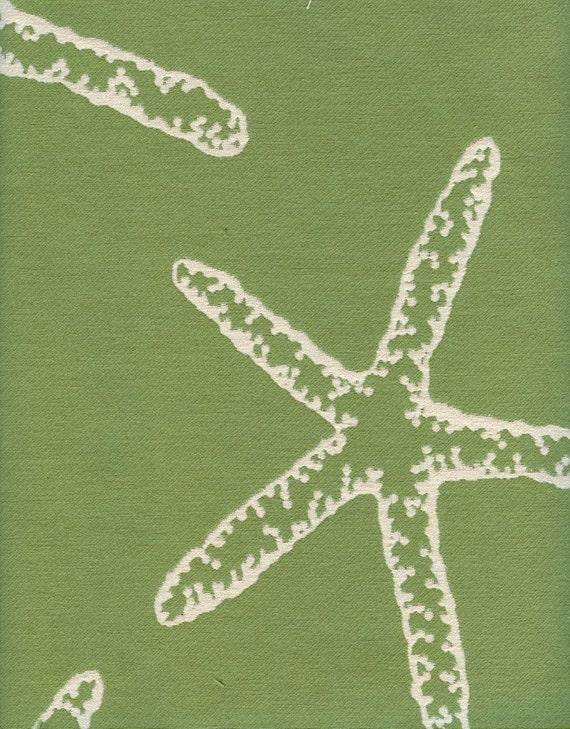 Starfish Green Fabric - 1 Yard