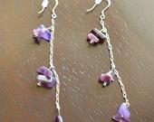 Purple Waterfall (Earrings)