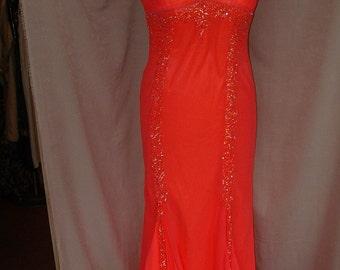 Divine Diva Evening  Gown w/Train M/L