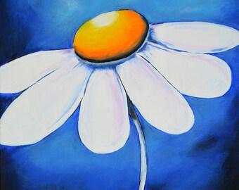 "Flower - Blue 16"" x 20"""