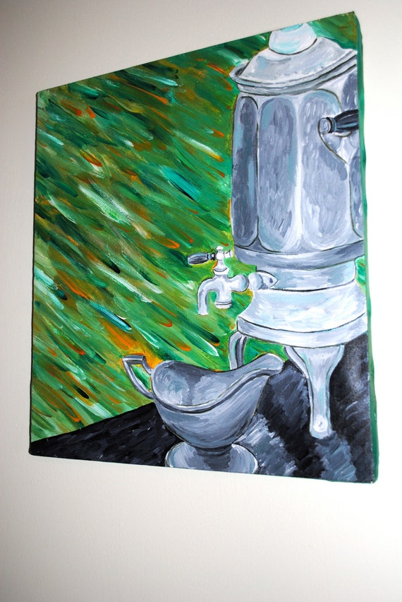 Water Jug Acrylic Painting