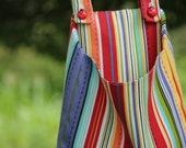Summer Stripe Clothespin Bag