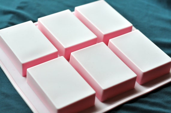 Flexible Silicone Silicon Soap Molds Cake Molds Chocolate - 6 100g Rectangle Bars