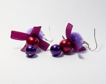 Violetish Dream - Sweet Purple Beaded Earrings