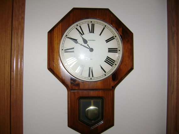 Items Similar To Vintage Verichron Wall Clock With Chime