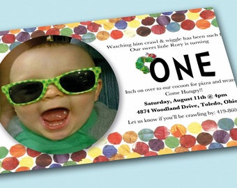 Very Hungry Caterpillar Birthday Invitation - Print at Home