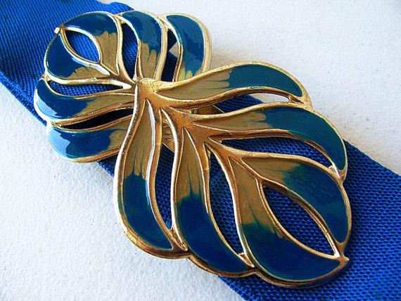 Blue Vintage Peacock Belt