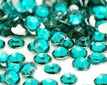 4 mm 1000 pieces Round Flat Back 14 facet cut Rhinestones  ---- Teal
