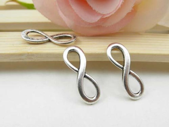 30pcs Antique Silver Infinity Charms Connector - infinity symbol Charms Pendants 8x23mm