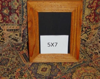 FREE SHIPPING Solid cedar wood 5x7 picture photo craft frame oak finish country rustic display