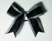 Black and Silver Hair Bow