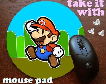 Super Mario Bros Nintendo Mouse Pad DO want Mousepad for your computer on your desk in yo office
