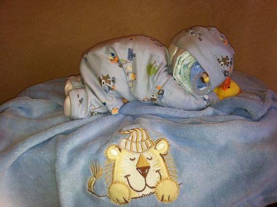 Items Similar To Baby Diaper Cake Sleeping Baby Diaper