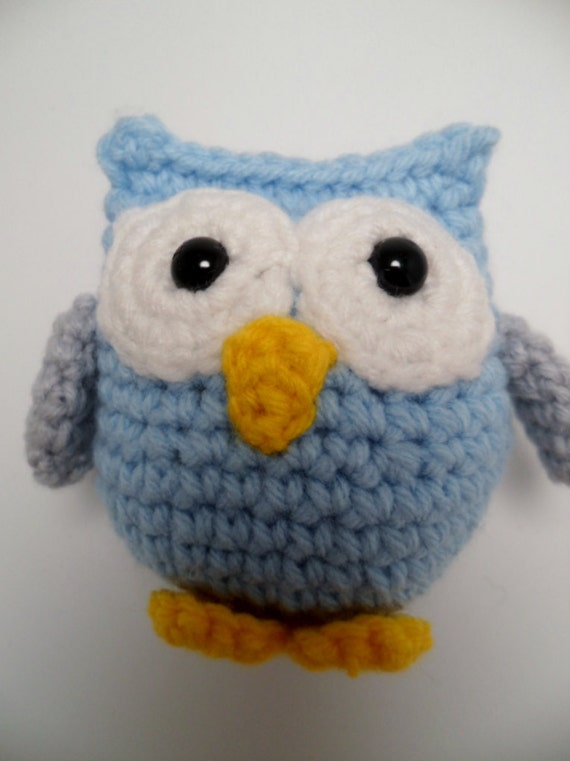 Items similar to Small Crochet Amigurumi Owl on Etsy