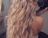 MERMAID LOCKS/ 22 inches long/ TWO Sets/human hair extensions/ remy quality hair/ hair wefts/free people hair