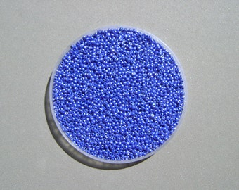 Czech Seed Beads 11/0 Blue Opaque Luster  10 grams approx 1000 seed beads