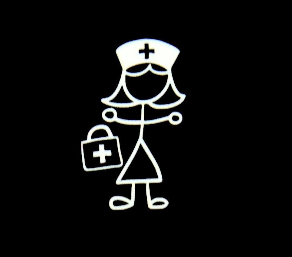 Nurse Stick Figure Vinyl Decal