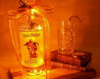 Captain Morgan Light Up Liquor Bottle - Lighted Decorated Bottle / Lamp / Bar / Party / Night Light