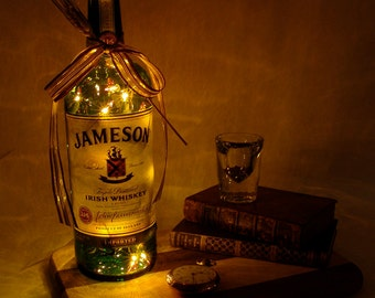 Jameson Light Up Liquor Bottle - Lighted Decorated Bottle / Lamp / Bar / Party / Night Light