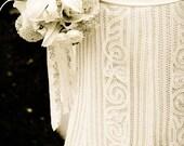 Vintage Bridal antique dress bouquet