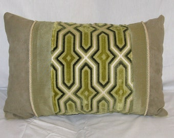 Fun Lime Green Pillow 12 x 20