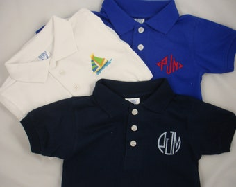 Custom-Embroidered Infant Polo Onesie