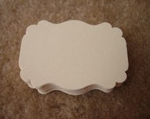 "50 Large Cream Ivony Bracket Label Shape Hand Punch Tag Paper Die Cut Cards Confetti Tag Scrapbooks (2.25"" X 1.5"")"