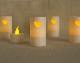 Heart, Wedding Decor, Luminarias, Wedding Luminaries, Wedding Decorations, Wedding Reception, Valentines Day, Valentines Day Decor