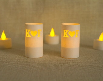 Custom Wedding Decoration, Glowing Luminarias, Wedding Luminaries