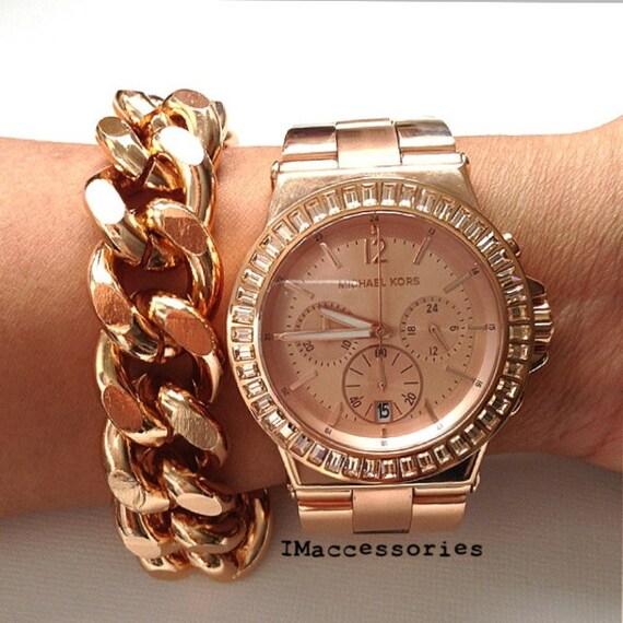 Etsy Chain Bracelet Chunky Curb Chain Bracelet