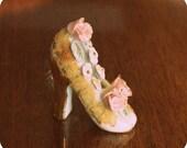 Vintage Collectible Porcelain Shoe - Circa 1940s