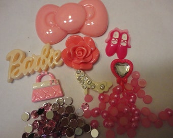 Kawaii cabochon decoden deco diy bling kit  B- pink  - CHEAP---US seller