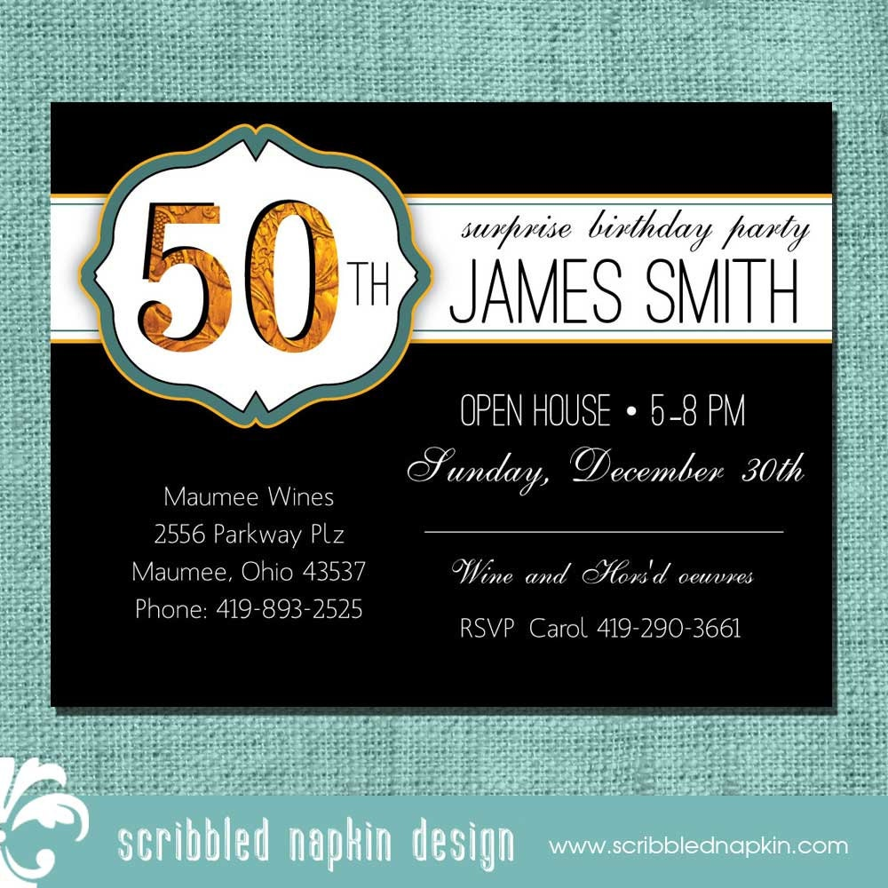 Birthday Invitation 50th Birthday Invitation By