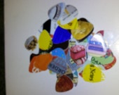 Guitar Picks, Guitar Pick, Up-cycled plastic cards