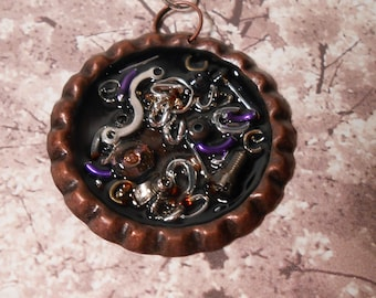 Steampunk Spare Parts  Necklace