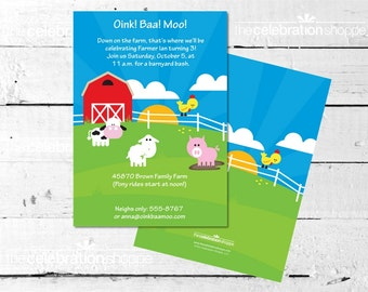 FARM Birthday PARTY INVITATION from The Celebration Shoppe