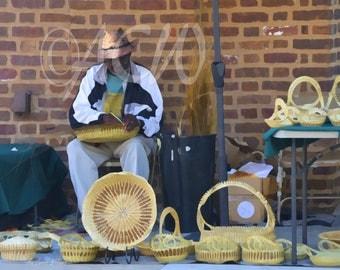 Basket Weaver in Charleston, South Carolina (16 x 20 canvas)