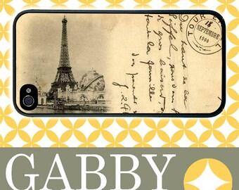iPhone 6 Case, iPhone 6 Plus Case, iPhone 6 Edge Case, iPhone 5 Case, Galaxy S6 Case, Galaxy S5 Case, Galaxy - Vintage Eiffel Tower Postcard