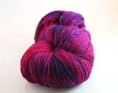 Reserved for Rebecca hand dyed yarn 575 yards superwash merino cashmere nylon
